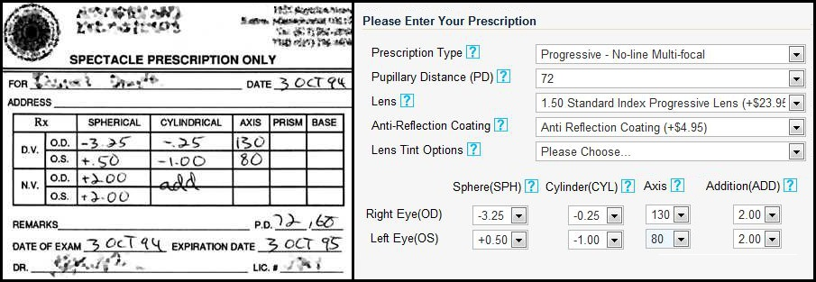 Buy Prescription Eyeglasses Online Pd Or Pupillary