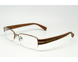 Z01AB8228-BR - Stainless Steel, SemiRim eyeglasses for men