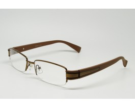 Z01AB8229-BR - Stainless Steel, SemiRim eyeglasses for men