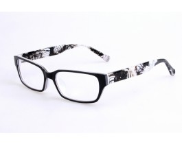 Z21JB8389C718 - Black/white,Fullrim,Rectangle,Acetate eyeglasses,Large,for both men and women