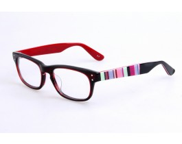 Z228085C3 - Black/red,Fullrim,Aviator,Acetate eyeglasses,Large,for both men and women