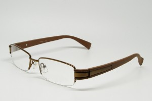 Stainless Steel, SemiRim eyeglasses for men - Z01AB8229C6