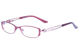 Red,Fullrim,Oval,Alloy metal eyeglasses - Z01AB8538C56