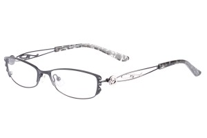 Black,Fullrim,Oval,Alloy metal eyeglasses - Z01AB8538C9