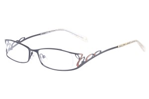 Black,Fullrim,Oval,Alloy metal eyeglasses - Z01AB8551C9