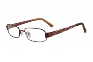 Brown,Fullrim,Rectangle,Metal alloy eyeglasses - Z035764C1