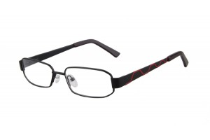 Black,Fullrim,Rectangle,Metal alloy eyeglasses - Z035764C3