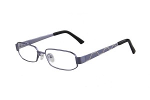 Blue,Fullrim,Rectangle,Metal alloy eyeglasses - Z035764C4