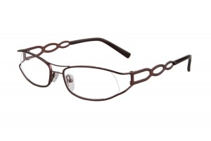 Brown,Semirim,Halfrim,SemiRimless,Oval,Metal alloy eyeglasses - Z03BM0806134C1