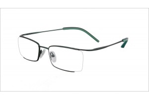 Green,Semirim,Halfrim,SemiRimless,Rectangle,Metal alloy eyeglasses - Z03BM0809072C1