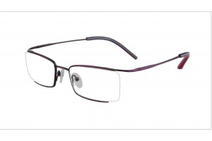 Purple,Semirim,Halfrim,SemiRimless,Rectangle,Metal alloy eyeglasses - Z03BM0809072C2