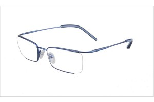 Blue,Semirim,Halfrim,SemiRimless,Rectangle,Metal alloy eyeglasses - Z03BM0809072C3