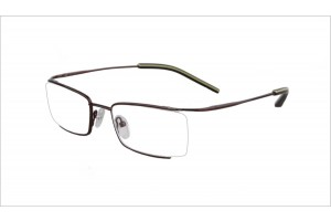 Brown,Semirim,Halfrim,SemiRimless,Rectangle,Metal alloy eyeglasses - Z03BM0809072C4
