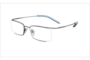 Metallic,Semirim,Halfrim,SemiRimless,Rectangle,Metal alloy eyeglasses - Z03BM0809072C5