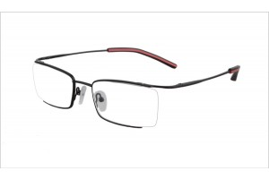 Black,Semirim,Halfrim,SemiRimless,Rectangle,Metal alloy eyeglasses - Z03BM0809072C6