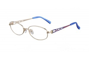 Golden,Fullrim,Oval,Titanium eyeglasses - Z03RB1027C3