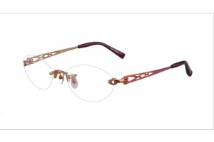 Red,Rimless,Oval,Titanium eyeglasses - Z03RB1030C2