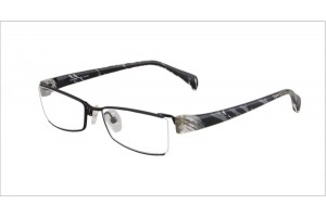Black,Semirim,Halfrim,SemiRimless,Rectangle,Titanium eyeglasses - Z03S3200C1