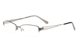 Brown,Semirim,Halfrim,SemiRimless,Rectangle,Metal alloy eyeglasses - Z055840C8