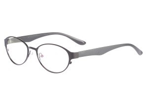 Black,Fullrim,Oval,Alloy metal eyeglasses - Z058229BK