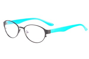 Black/blue,Fullrim,Oval,Alloy metal eyeglasses - Z058229BKBL