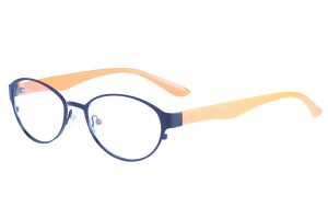 Black/orange,Fullrim,Oval,Alloy metal eyeglasses - Z058229BKO