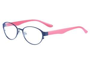 Black/red,Fullrim,Oval,Alloy metal eyeglasses - Z058229BKR