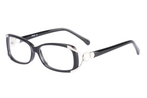 Black,Fullrim,Oval,Acetate eyeglasses - Z06S605C2