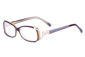 Brown,Fullrim,Oval,Acetate eyeglasses - Z06S605C4
