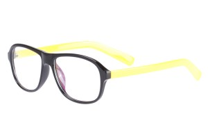 Black/yellow,Fullrim,Aviator,Tr90 eyeglasses - Z0789115C57