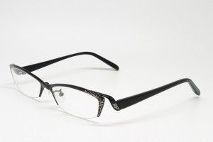 Titanium, SemiRim eyeglasses for women. - Z09BCT9007C86