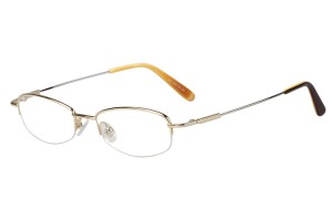 Golden,Semirim,Halfrim,SemiRimless,Oval,Metal alloy eyeglasses - Z11603C1