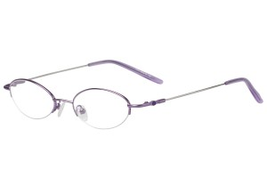 Purple,Semirim,Halfrim,SemiRimless,Oval,Metal alloy eyeglasses - Z11610C6