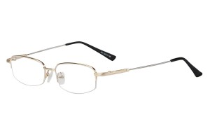 Golden,Semirim,Halfrim,SemiRimless,Rectangle,Metal alloy eyeglasses - Z11637C1