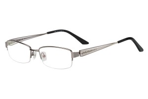 Metallic,Semirim,Halfrim,SemiRimless,Rectangle,Metal alloy eyeglasses - Z116840C2