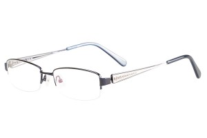 Blue,Semirim,Halfrim,SemiRimless,Rectangle,Metal alloy eyeglasses - Z116840C5