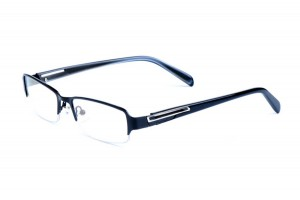 Black,Semirim,Halfrim,SemiRimless,Rectangle,Metal alloy eyeglasses - Z116873C4