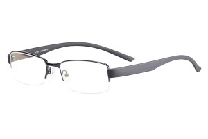 Blue,Semirim,Halfrim,SemiRimless,Rectangle,Metal alloy eyeglasses - Z116886C5
