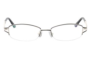 Black,Semirim,Halfrim,SemiRimless,Rectangle,Metal alloy eyeglasses - Z116905C4