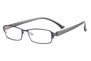 Blue, Full Rim, Rectangle, Metal Alloy eyeglasses. - Z116918C5