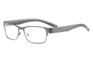 Metallic,Fullrim,Rectangle,Metal alloy eyeglasses - Z161668C2