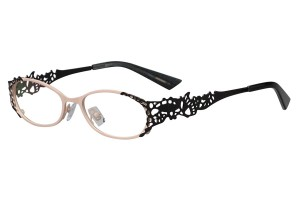 White/black,Fullrim,Oval,Metal alloy eyeglasses - Z16237-WB