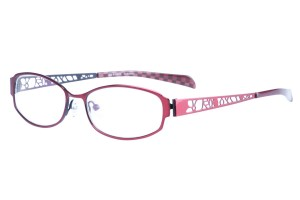 Red,Fullrim,Oval,Metal alloy eyeglasses - Z165540-R