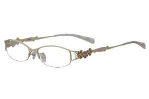 White,Semirim,Halfrim,SemiRimless,Rectangle,Metal alloy eyeglasses - Z165547-W