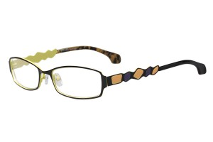 Black/green,Fullrim,Rectangle,Metal alloy eyeglasses - Z165552-BKG