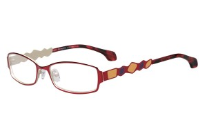 Red,Fullrim,Rectangle,Metal alloy eyeglasses - Z165552-R