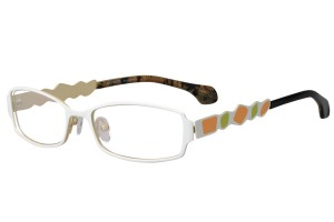 White,Fullrim,Rectangle,Metal alloy eyeglasses - Z165552-W