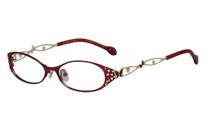 Red,Fullrim,Oval,Metal alloy eyeglasses - Z165564-R