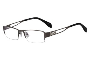 Metallic,Semirim,Halfrim,SemiRimless,Rectangle,Metal alloy eyeglasses - Z168586C2