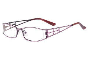 Black/purple,Fullrim,Rectangle,Metal alloy eyeglasses - Z16C30047C14